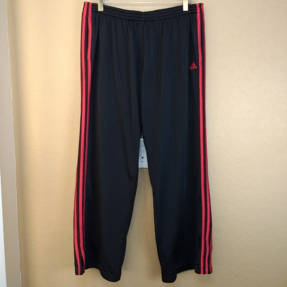dfc815d4 Adidas Black and Red Stripe Athletic Pants